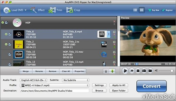 AnyMP4 DVD Ripper for Mac