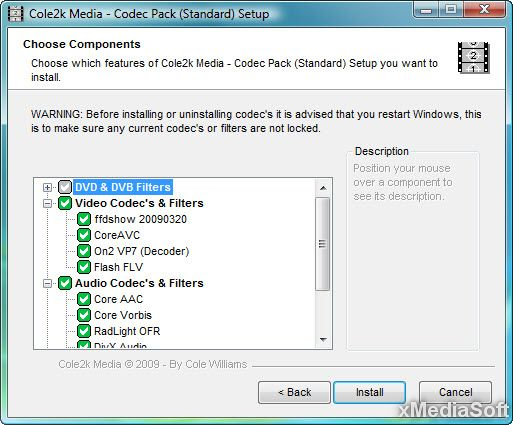 Cole2k Media Codec Pack Standard