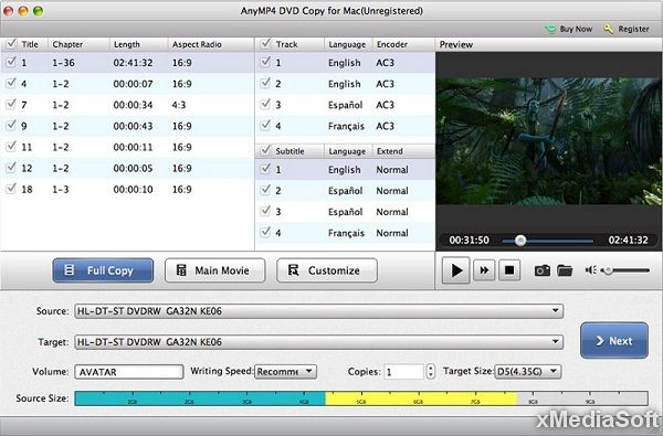 AnyMP4 DVD Copy for Mac