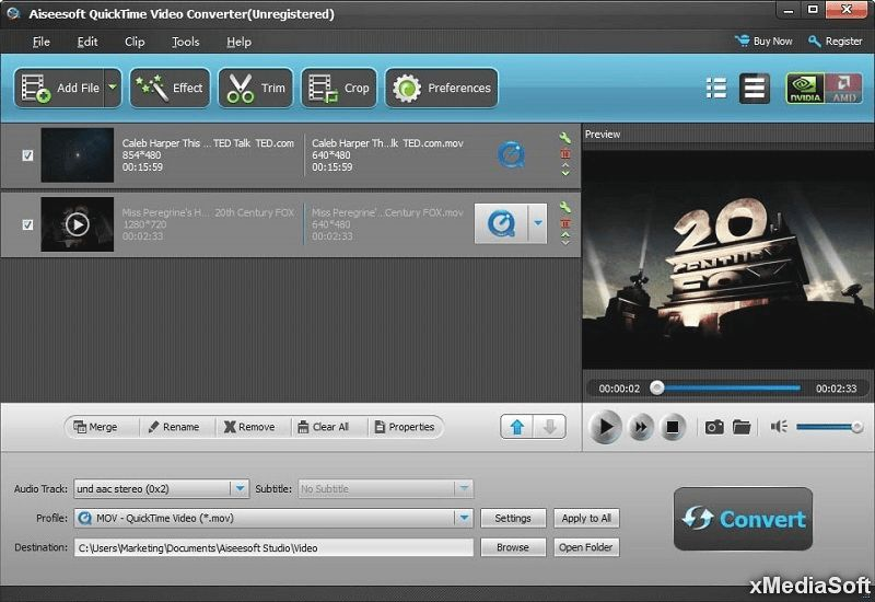 Aiseesoft QuickTime Video Converter