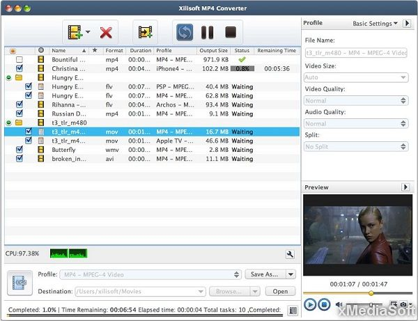 Xilisoft MP4 Video Converter for Mac