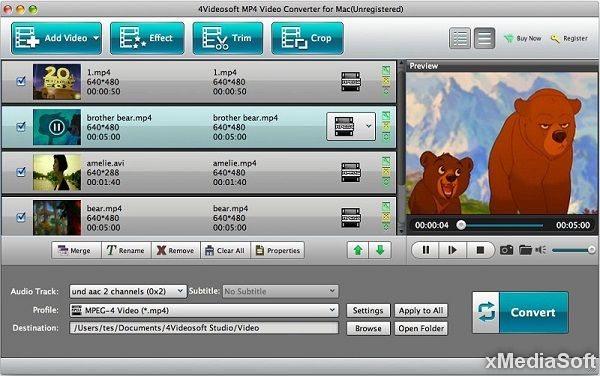 4Videosoft MP4 Converter for Mac