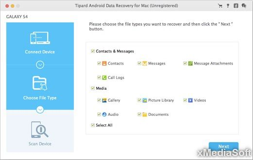 Tipard Android Data Recovery for Mac