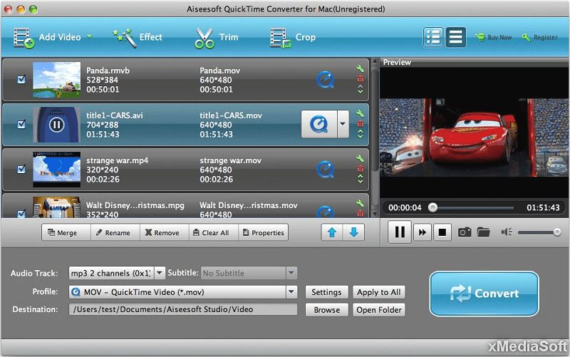 Aiseesoft QuickTime Video Converter for Mac
