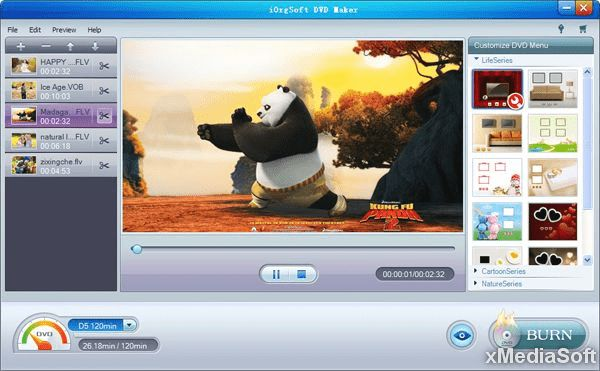 iOrgSoft DVD Maker Скриншот