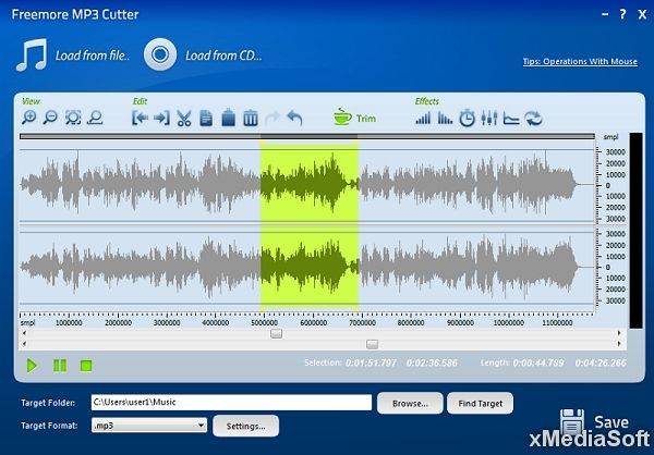 Freemore MP3 Cutter - Нарезка аудио на фрагменты